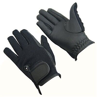 Bitz Synthetic Winter Gloves Adult Black Medium Horse Riding Wear - Size Rider
