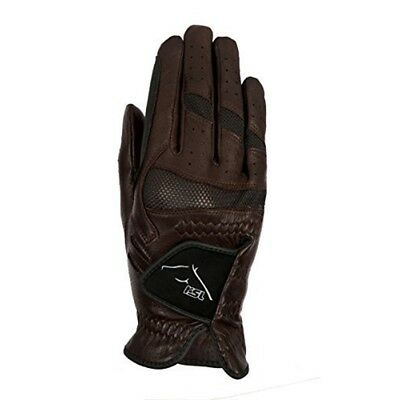 Ascot Pittards Leather Riding Gloves, Brown, 8 1/2 - Rsl Gloves Brown Size Usg