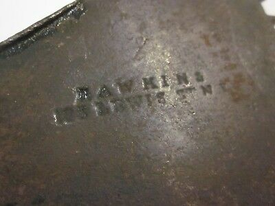 RARE Antique 19th C  HAWKINS LEWIS ST NY Hand Forged Ice Tool SMITHSONIAN MUSEUM