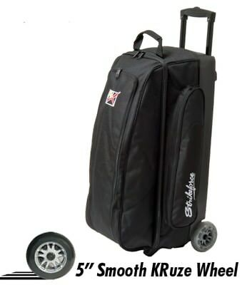 "KR Cruiser 3 Ball Roller Bowling Bag Color Black with 5"" Urethane Wheels"
