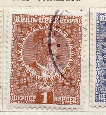 Montenegro 1915 Early Issue Fine Used 1p. 252005