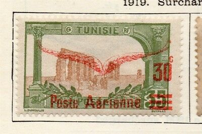Tunisia 1919 Early Issue Fine Mint Hinged 30c. Optd Surcharged 252048