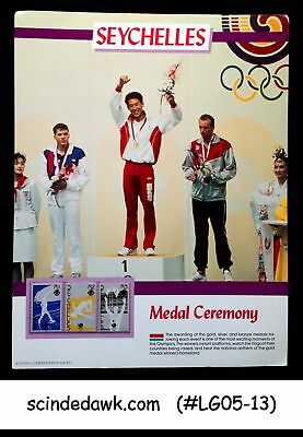 Seychelles - 1988 Olympic Games / Medal Ceremony Panel Mnh