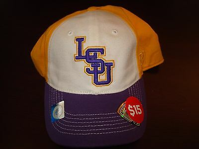 5ca574e97 Lsu Tigers Memeory Fit Tow Script Golf Vint Retro Hat Cap 1-Fit Osfm New