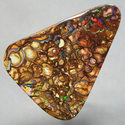 Electric Gem Colors * 22ct Natural Australian Solid Yowah Boulder Opal * Video