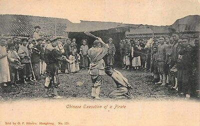 Postcard Chinese Execution of a Pirate~115810