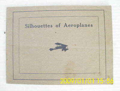 WORLD WAR I Booklet SILHOUETTES OF AEROPLANES