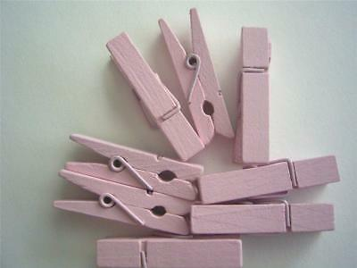 BB SMALL PEGS PALE PINK bigger 35mm pk of 20 wooden mini peg wood clothespin