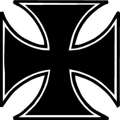 Iron Cross/Maltese Cross vinyl decal/sticker Chopper