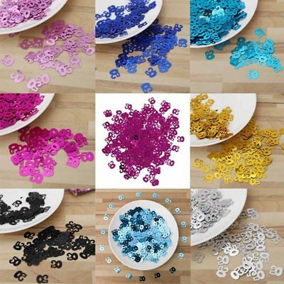 50 Age Confetti Age Number Confetti Sprinkle Party Table Decor Throwing Confetti