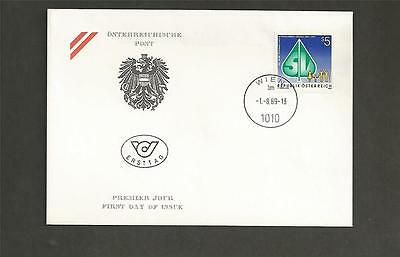 AUSTRIA -1989 The 100th Anniversary of Social Security in Austria  -FDC