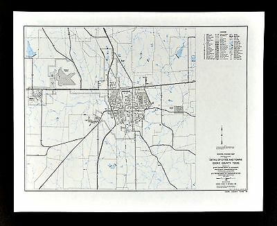 Texas Map - Cook County - Gainesville Lindsay Cook County College Fair Grounds