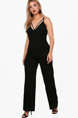 497527d999a6 BOOHOO WOMENS MOLLY Peplum Style Skinny Leg Jumpsuit -  50.00