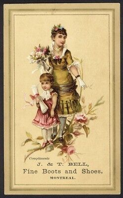 Canada BELL FINE SHOES BOOTS Montreal & Ontario Victorian Trade Card 1880's