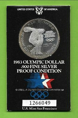1 $ Oly Los Angeles Diskuswerfer 1983 PP S = San Francisco