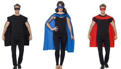 NEW Cape with Eyemask - Superhero Comic Character Unisex Fancy Dress Costume