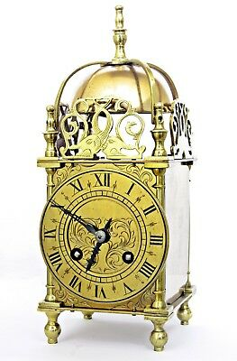 19thC ANTIQUE BRASS LANTERN CLOCK FRENCH STRIKING MOVEMENT /ESCAPEMENT, SERVICED