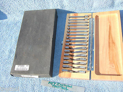 Brown&sharpe Angle Blocks (17) 1/4 To 45* Machinist Toolmaker Inspect Mill Grind