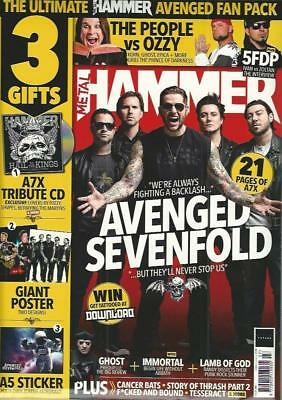 Metal Hammer Magazine + Cd July 2018 Issue 310 Avenged Sevenfold, Ozzy, 3Gifts)
