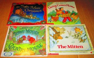 JAN BRETT Lot of 4-SC/SOFTCOVERS- Mitten, Daisy Comes Home, Town Mouse Country M