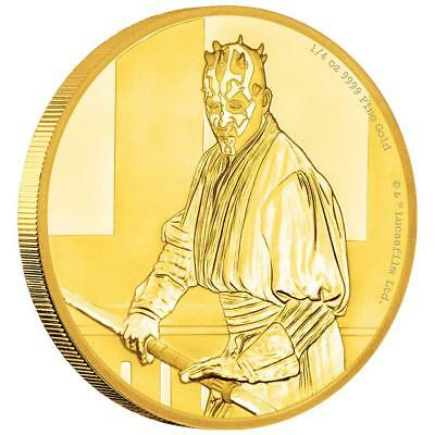 Niue - 25 Dollar 2018 - Darth Maul™ - Star Wars™ Classics (12.) - 1/4 Oz Gold PP