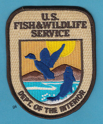 Dept. Of The Interior Fish And Wildlife Service Shoulder Patch