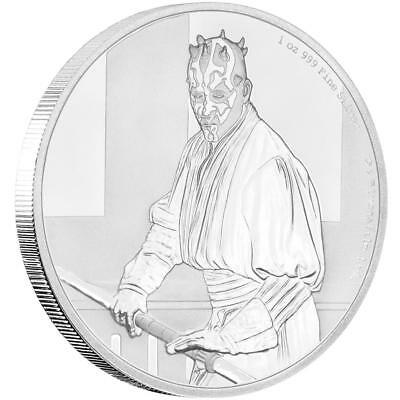 Niue - 2 Dollar 2018 - Darth Maul™ - Star Wars™ Classics (12.) - 1 Oz Silber PP