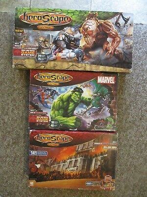 HEROSCAPE: VALKYRIE, MARRO, FORTRESS, MARVEL + 5 More Expansions