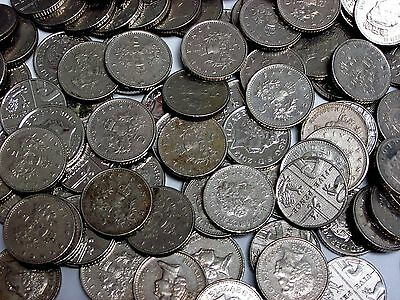 5lb. Lot of British Circulated 5 Pence Coins