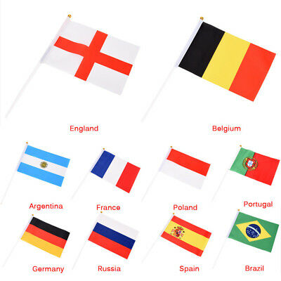 Russia 2018 World Cup Design 21cm*14cm World Country National Polyester Flags ES