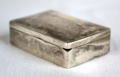 Old Mexico Hand Made Mexican Sterling Silver Pill Box By Famous Fredrick Davis