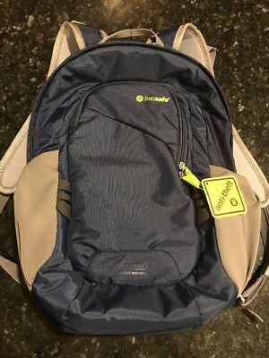 Pacsafe Venturesafe 15L GII Anti-theft Daypack Backpack Navy Blue NWT