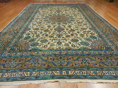 C1940 VG DY ANTIQUE PERSIAN NAEIN NAIN KASHAN DESIGN 7x10 ESTATE SALE RUG