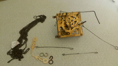 Vintage Cuckoo clock Mechanism incl chain and clock hands GM 1605200