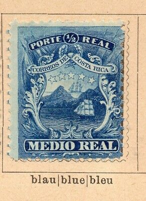 Costa Rica 1862-64 Early Issue Fine Mint Hinged 1/2r. 252213