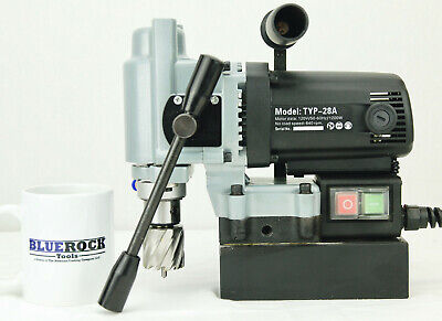 BLUEROCK ® Tools TYP-28A MINI Magnetic Drill Press Typhoon Small Mag Annular