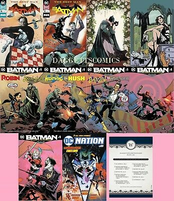 Batman Wedding Complete Set (11) #48 49 50 Catwoman #1 + Wedding Prelude Dc Rsvp