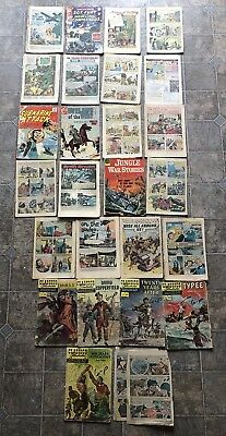 Vintage Comic Book Lot 25 Classic Illustrated Dell & More Loose Low Grade Comics