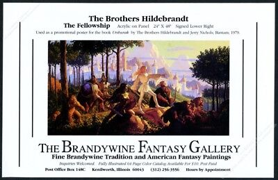 1989 The Brothers Hildebrandt The Fellowship painting IL gallery show print ad