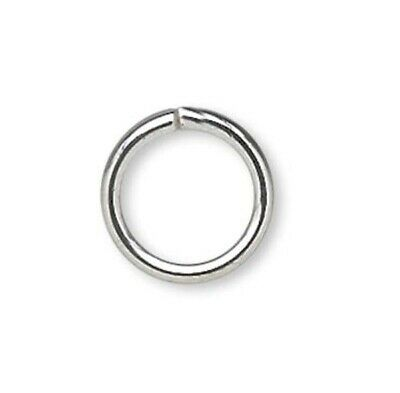 1440 Silver Plated Brass 5mm Round Jumprings / 20 Gauge   *