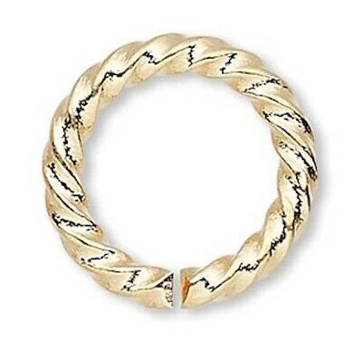 480 Gold Plated Brass 8mm Fancy Twisted Round Jumprings / 16 Gauge *
