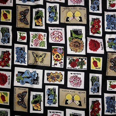 """Nicole Miller 1998 USPS STAMPS Scarf , square  43"""" x 43""""  silk"""