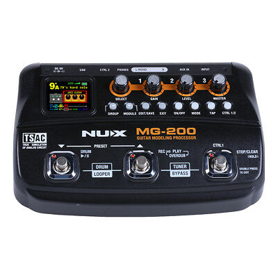 Customer Returned NuX MG200 Guitar Modelling Effects Processor Pedal