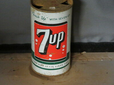 7-Up.  Colorful Solid. Soda. Prezip. Flat Top