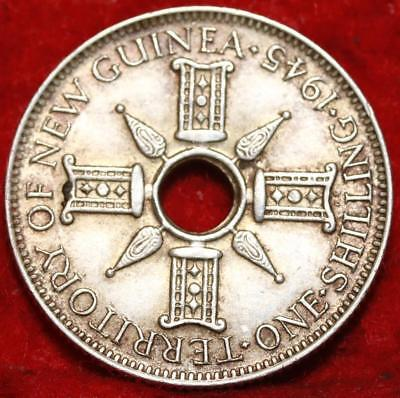 1945 New Guinea One Shilling Silver Foreign Coin