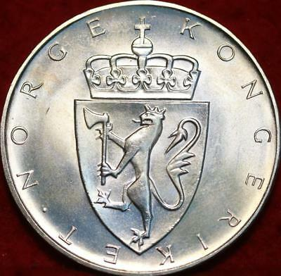 Uncirculated 1964 Norway 10 Kroner Silver Foreign Coin
