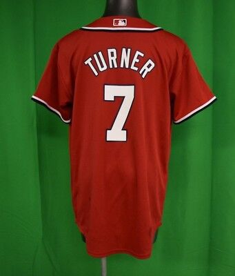 Majestic MLB Youth Washington Nationals Trea Turner Baseball Jersey LOOK L 14cd3526a