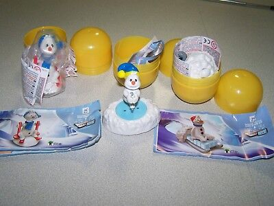 Snowman Kinder Surprise with papers