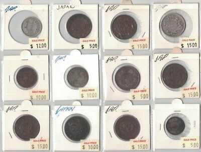 Japan 12 coins in clearance