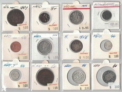 1858 to 1999 Netherlands 12 coins in clearance